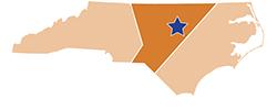 Map of North Carolina – Jordan Lake State Recreation Area