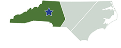 Map of North Carolina – Lake Norman State Park