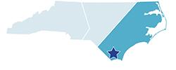Map of North Carolina – Lake Waccamaw State Park