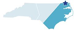 Map of North Carolina – Merchants Millpond State Park