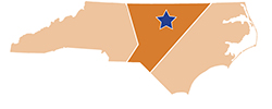 Map of North Carolina – Occoneechee Mountain State Natural Area