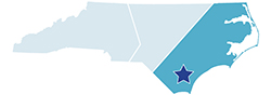 Map of North Carolina – Singletary Lake State Park