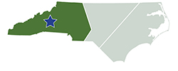 Map of North Carolina – South Mountains State Park