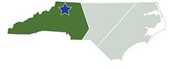 Map of North Carolina – Stone Mountain State Park