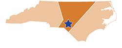 Map of North Carolina – Weymouth Woods Sandhills Nature Preserve