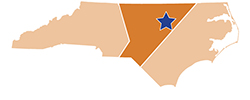 Map of North Carolina – William B. Umstead State Park
