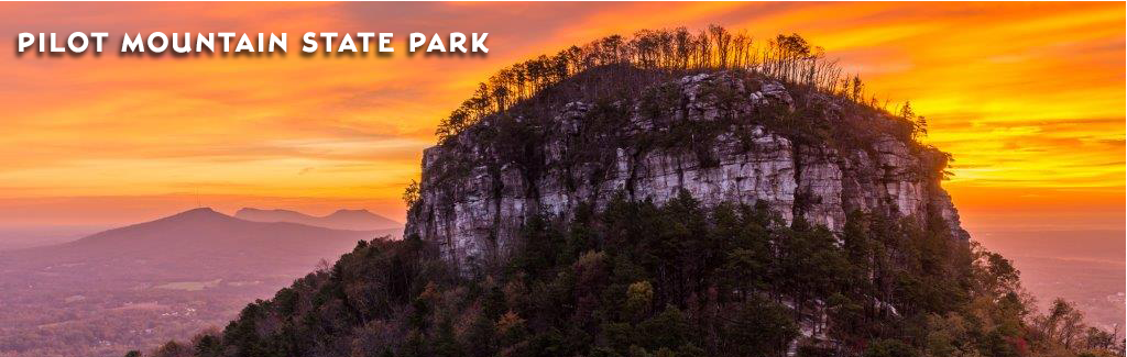 The pinnacle at Pilot Mountain State Park