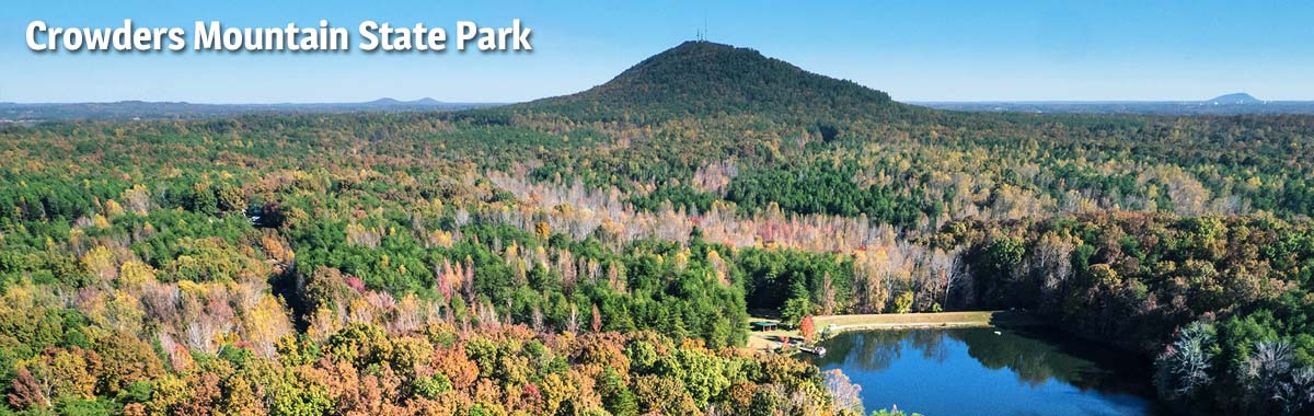 Aerial view of Crowders Mountain State Park