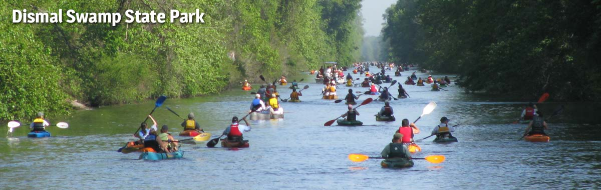 Paddle for the Border festival at Dismal Swamp State Park