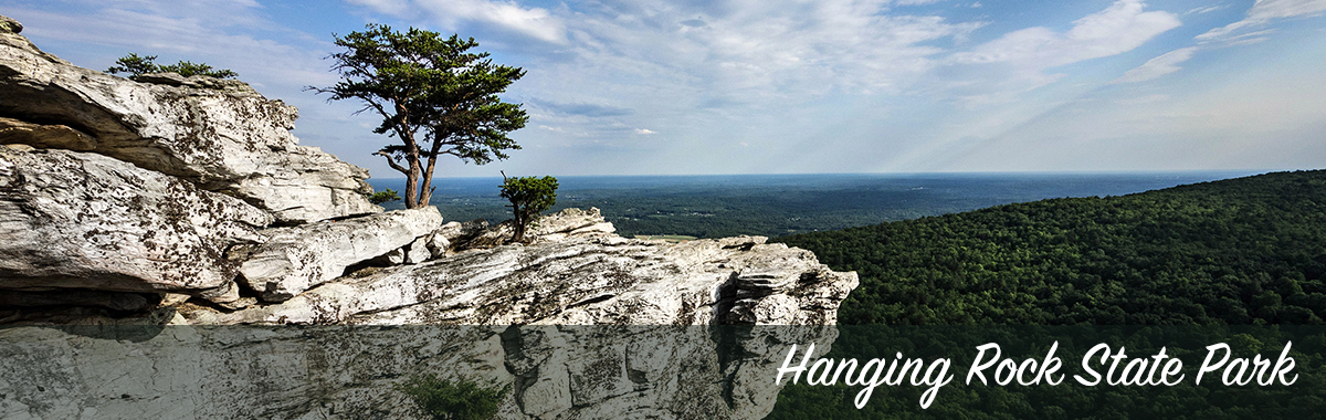Hanging Rock and the surrounding view from the peak
