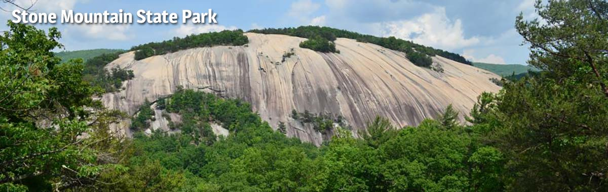 View of Stone Mountain at Stone Mountain State Park