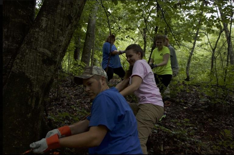 Volunteers at Medoc Mountain State Park (John Dixon)