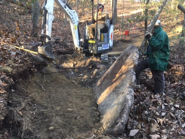 Trail work at Pilot Mountain State Park