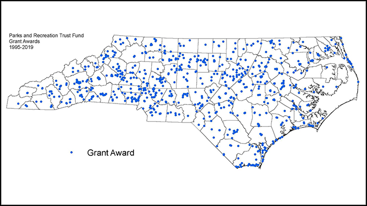 PARTF awards map