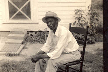 Marius Bennett, a former enslaved person at Somerset Place, circa 1941. Photo from the North Carolina State Parks archives.