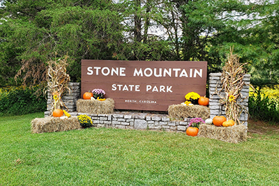 Fall display at Stone Mountain State Park