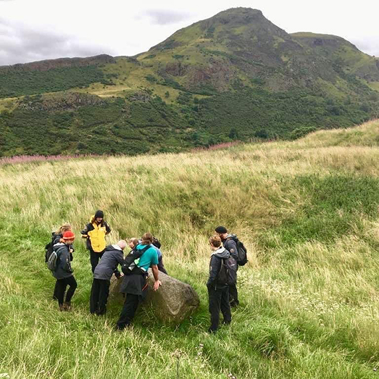Scotland Ranger Luke Taylor with colleagues. Courtesy photo.
