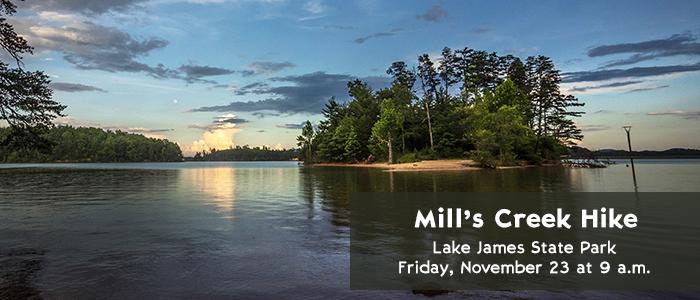 Mill's Creek Hike - Lake James State Park