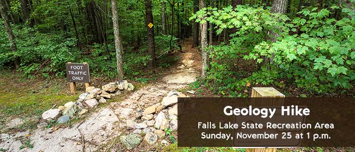 Geology Hike - Falls Lake State Recreation Area