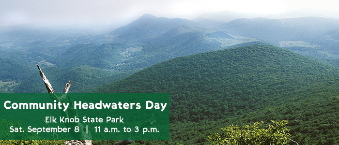 Poster for Elk Knob Community Headwaters Day