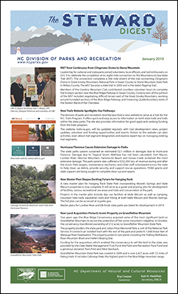 The Steward Digest - North Carolina State Parks Newsletter - January 2019 issue