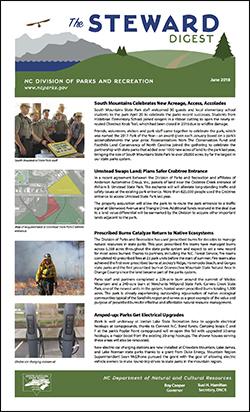 The Steward Digest - North Carolina State Parks Newsletter - June 2018 issue