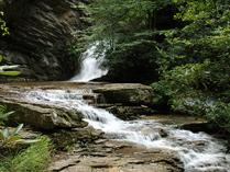 Lower Cascades Falls at Hanging Rock State Park. Photo by E. Nygard.