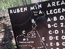 Old sign at Ruben Mountain at Hanging Rock State Park. Photo by R. Riddlebarger.