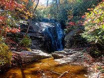 Upper Cascades Falls at Hanging Rock State Park. Photo by R. Curtis.
