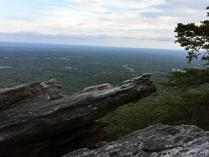 Wolf Rock at Hanging Rock State Park. Photo by R. Riddlebarger.