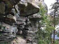 Jomeokee Trail at Pilot Mountain State Park, Pinnacle, NC. Photo by K. Williams.
