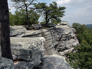 House Rock at Hanging Rock State Park. Photo by D. Cook.