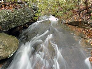 Indian Creek at Hanging Rock State Park. Photo by B. Stewart.