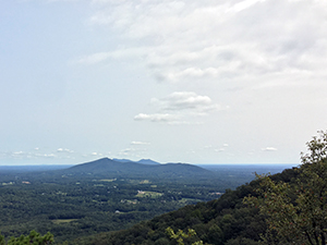 View from the Mountains-to-Sea State Trail at Pilot Mountain State Park, Pinnacle, NC. Photo by K. Williams.