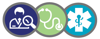 Icons representing the medical professional, specifically doctors