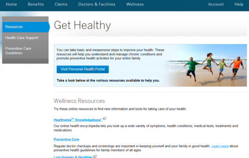 Personal Health Portal Screenshot