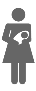 Icon representing a woman with a baby