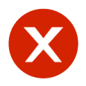 "Icon representing an ""x"""