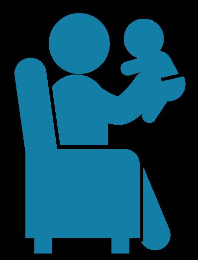 Image of man holding child