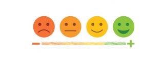 Image of emojis ranging from sad to happy