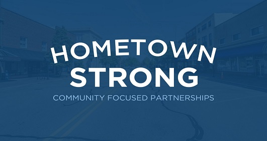 Hometown Strong Blue Logo