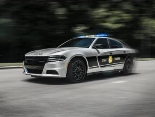 State Highway Patrol car on the move