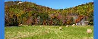 The Brushy Mountains in Alexander County