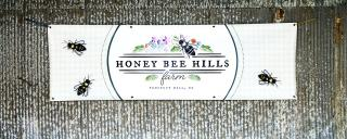 Picture of banner that says Honey Bee Farm