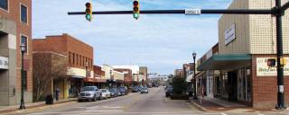 Downtown Laurinburg NC in Scotland County