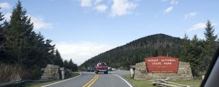 entrance to Mount Mitchell State Park