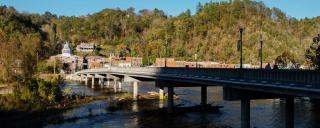 Madison County, Downtown riverfront bridge