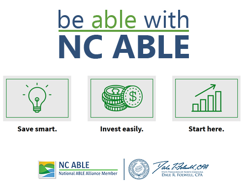 "Graphic with ""be able with NC ABLE"" on it"