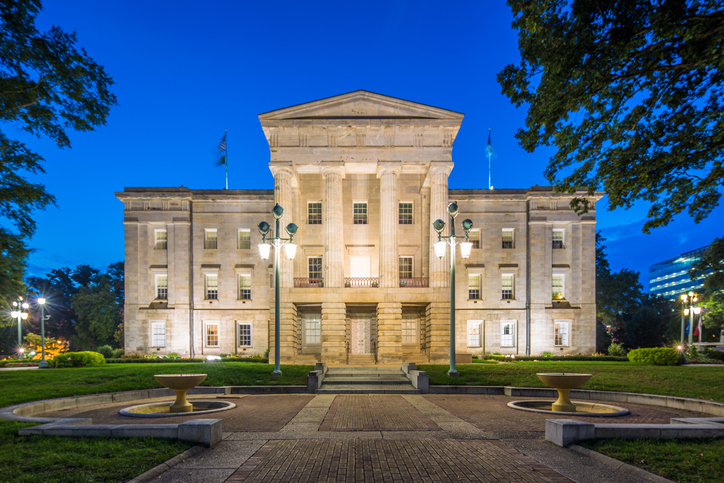 Photo of the State Capital in Raleigh