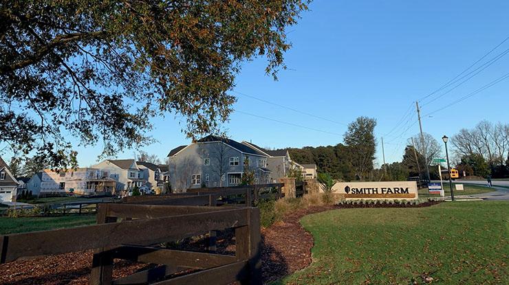 Smith Farms a development in Apex, NC